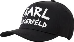 Karl Lagerfeld, Schirmmütze Graffiti Logo Cap in schwarz, Mützen & Handschuhe für Damen
