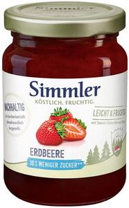 Simmler Konfitüre Leicht + Fruchtig Erdbeere 215G