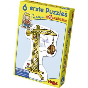 Haba Puzzle baustelle , 3901 , Multicolor , Holz , Buche , 15.9x5.3x24 cm , 005423049703
