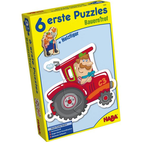 Haba Puzzle bauernhof , 3900 , Multicolor , Holz , Buche , 15x5x24 cm , 005423049701