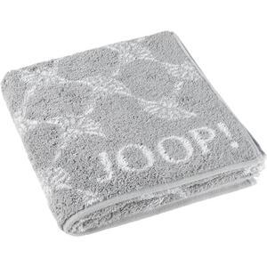 Joop! Handtuch 50/100 cm , 1611 Joop! B&W Cornflower , Silberfarben , Textil , Blume , 50x100 cm , saugfähig, Aufhängeschlaufe , 003367023301