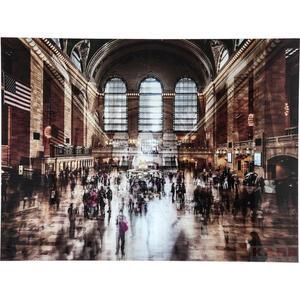 Kare-Design Bild , Grand Central Station , Multicolor , Kunststoff, Glas , 120x160x4 cm , klar , 001838009401