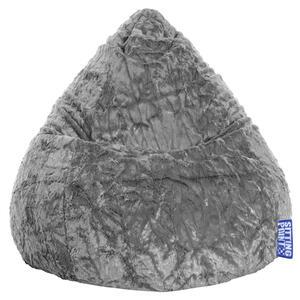 Livetastic Sitzsack plüsch grau , Fluffy Xl , Textil , 220 L , 110 cm , Plüsch , Indoor , 003354005704