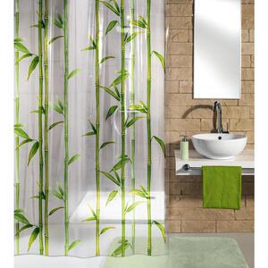 Kleine Wolke Duschvorhang grün, weiß 180/200 cm , Bambú , Kunststoff , 180x200 cm , wasserundurchlässig , 003342050701