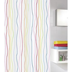 Kleine Wolke Duschvorhang multicolor 180/200 cm , 5194 148 305 Jolie , Textil , Wellen , 180x200 cm , wasserabweisend , 003342051201