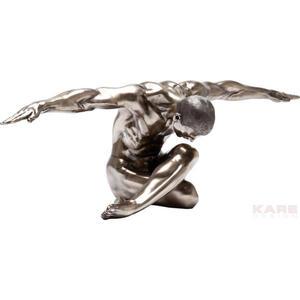 Kare-Design Skulptur , Nude MAN Bow , Bronzefarben , Metall, Kunststoff , 137x40x47 cm , 001838054101