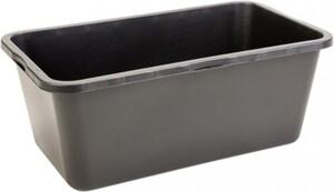 Mörtelkasten 90 l Kunststoff, eckig, schwarz, 4 Griffe, L-Skala