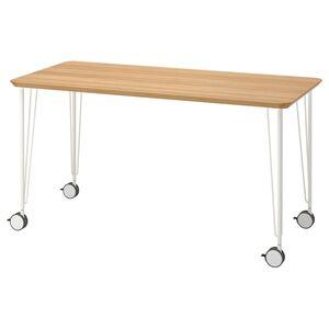 ANFALLARE / KRILLE Schreibtisch, Bambus/weiß