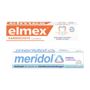 elmex, meridol oder aronal Zahnpasta