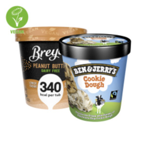 Ben & Jerry's Ice Cream, auch Vegan oder Breyers Eis