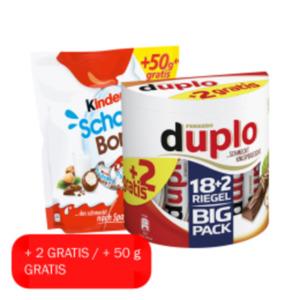 Duplo, Kinder Riegel Big Pack, Bueno 12er Sparpack oder Schoko Bons