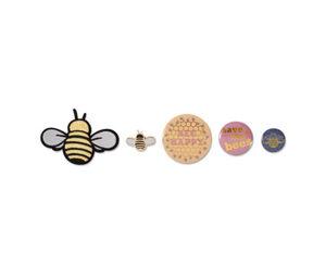 Anstecker-und-Bügelbild-Set »Biene«