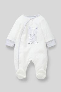 C&A Baby-Schlafanzug-Bio-Baumwolle, Weiß, Größe: 42