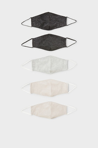 C&A Kinder Mund-und Nasenmaske-5er Pack, Weiß, Größe: 1 size