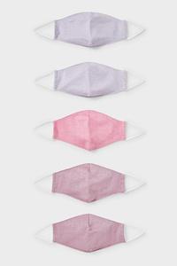 C&A Kinder Mund-und Nasenmaske-5er Pack, Pink, Größe: 1 size