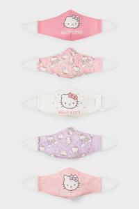 C&A Hello Kitty-Kinder Mund-und Nasenmaske-5er Pack, Rosa, Größe: 1 size