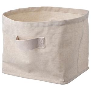 PURRPINGLA Korb, textil/beige