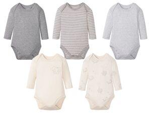 LUPILU® 5 Baby Langarmbodies, aus reiner Baumwolle