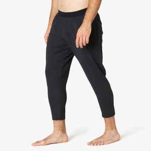 Jogginghose 7/8 Skinny Fitness Stretch Herren schwarz