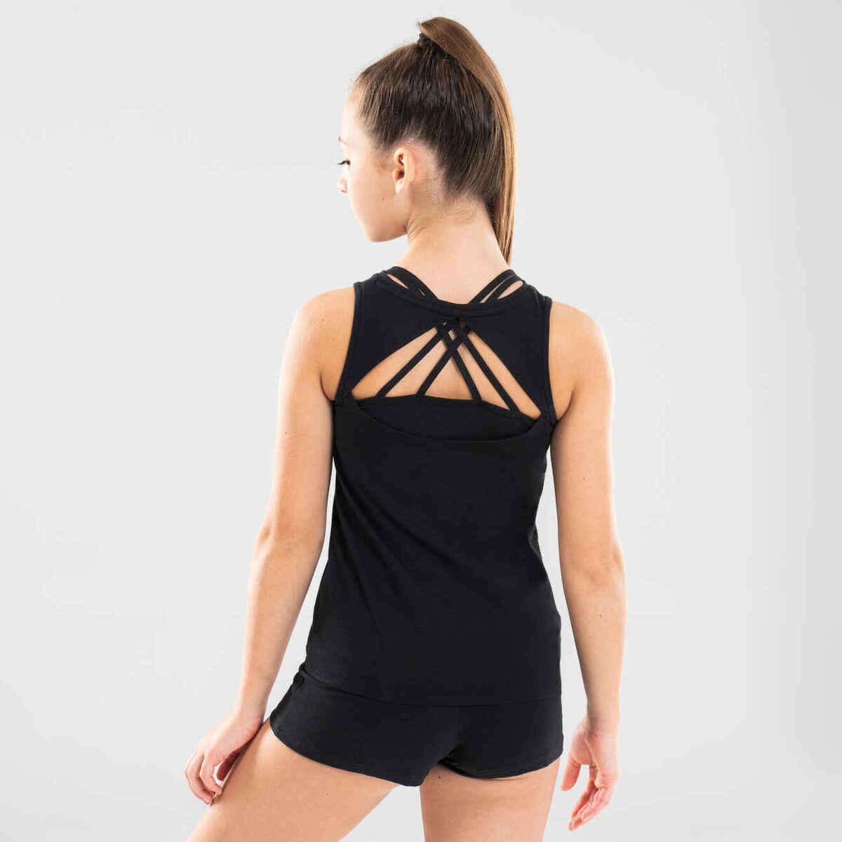 Bild 1 von Top mit Rückenöffnung Modern Dance Mädchen schwarz