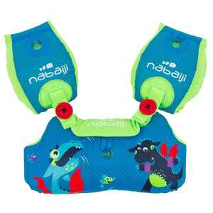 Schwimmflügel-Gurt Tiswim Kinder Druckmotiv Drachen blau
