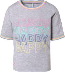 Boxy T-Shirt  hellgrau Gr. 128 Mädchen Kinder