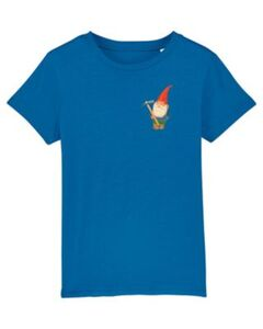 T-Shirt Gartenzwerg T-Shirts Kinder blau Gr. 98/104  Kinder