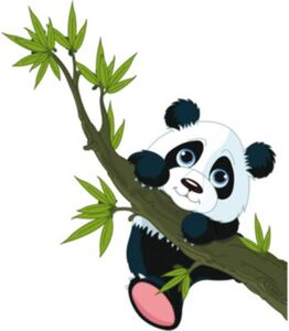 Wandsticker Pandabär, 67 x 47 cm mehrfarbig
