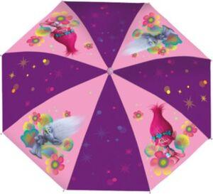 Kinderschirm Trolls rosa/lila