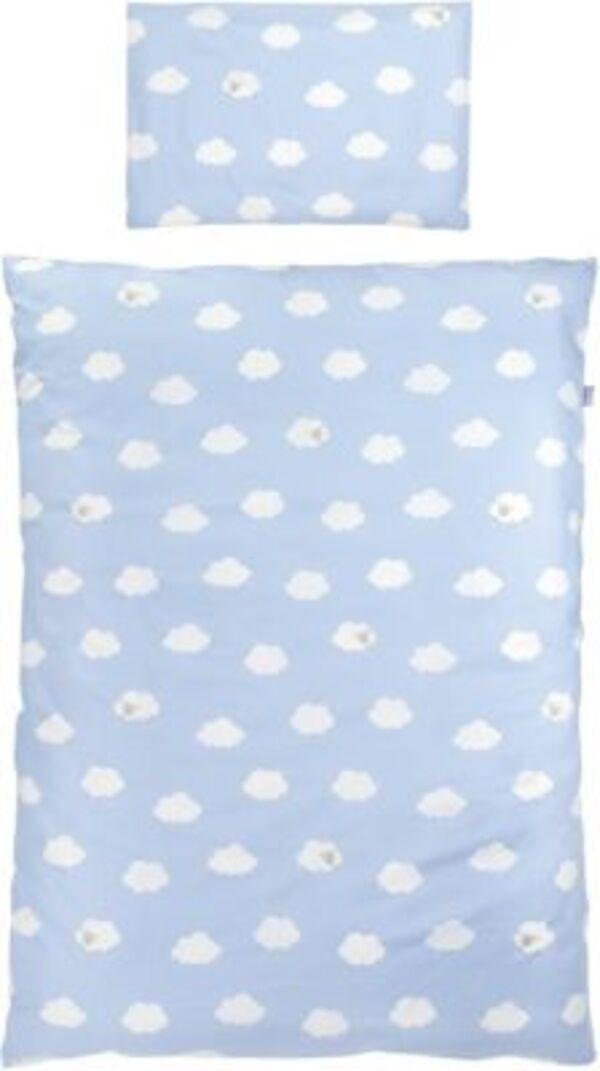 Kinderbettwäsche Kleine Wolke, Baumwolle, blau, 100 x 135 cm Gr. 100 x 135 + 40 x 60