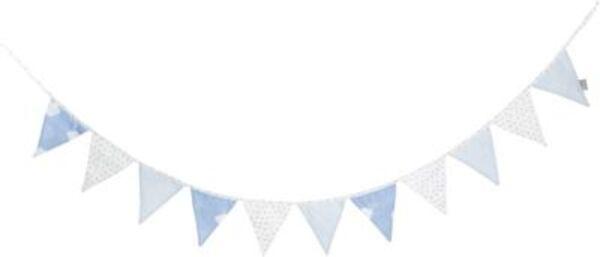 Wimpelkette Kleine Wolke, blau, 300cm