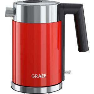 Graef Edelstahl Wasserkocher WK403, 1 Liter, rot