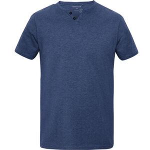 MANGUUN T-Shirt, Basic, V-Ausschnitt, uni, für Herren