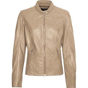 MANGUUN Collection Lederjacke, uni, Stehkragen, Reißverschlusstaschen, für Damen