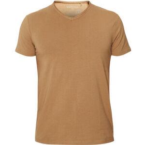 MANGUUN T-Shirt, V-Ausschnitt, unifarben, für Herren