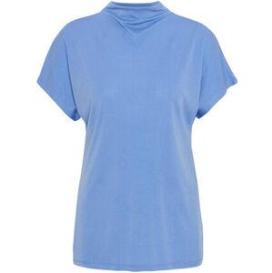 MANGUUN Collection T-Shirt, Stehkragen, Uni, für Damen