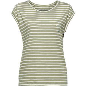 Esprit Streifen-Shirt, überschnittene Schulter, Print, für Damen