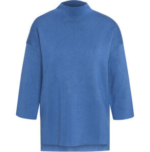 MANGUUN Collection Pullover, Strick, Langarm, Stehkragen, Viskose-Mix, für Damen