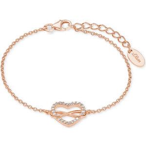S.Oliver Damen Armband Herz/Infinity, 925er Silber