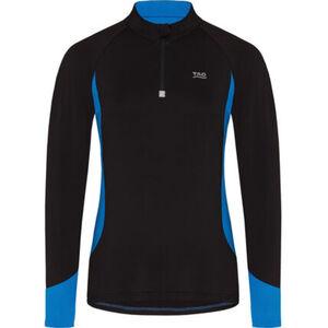 TAO Langarmshirt, 1/2-Zip, Stehkragen, zweifarbig, für Damen