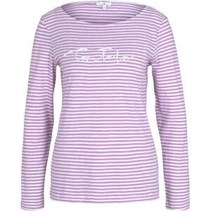 Tom Tailor Shirt, Langarm, Rundhalsausschnitt, Logo-Print, für Damen