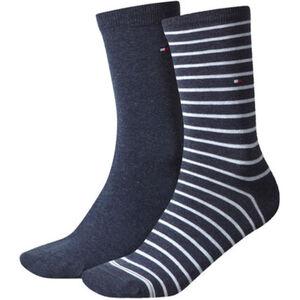 """Tommy Hilfiger Socken """"Small Stripe"""", 2er-Pack, uni und gestreift, für Damen"""