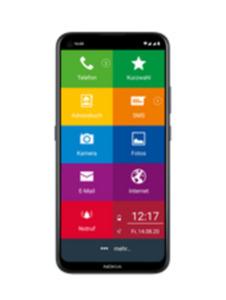 Nokia 5.4 EinfachFon Senioren 128GB polar night mit green LTE 3 GB Aktion