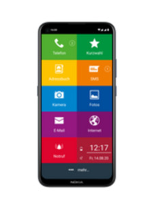 Nokia 5.4 EinfachFon Senioren 128GB polar night mit green LTE 10 GB Aktion