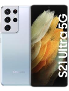 Samsung Galaxy S21 Ultra 5G 128GB Phantom Silver mit green LTE 18 GB