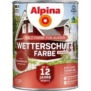 Alpina Wetterschutzfarbe Schwedenrot 2,5 l