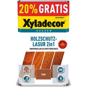 Xyladecor Holzschutz-Lasur 2in1 Teak 4 + 1 l