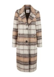 Damen Wollmix-Mantel mit Karomuster