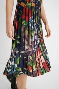 Plissee-Kleid Blumen