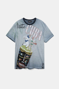 Basic-T-Shirt Baumwolle Kuba